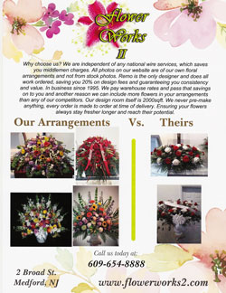 Flower Works 2 - Florist in Medford NJ