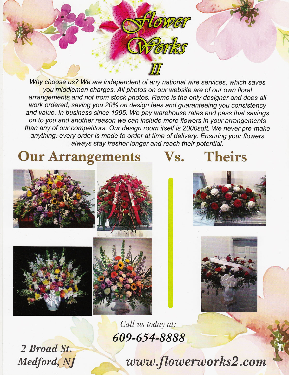 Flower Works II, your Medford, NJ Sympathy Florist