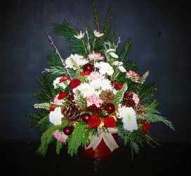 xmas 3/4 sided from Flower Works II, your Medford area florist