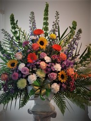 Masculine spring basket from Flower Works II, your Medford area florist