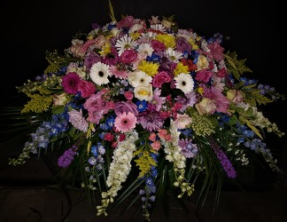 Classic style 1/2 casket spray from Flower Works II, your Medford area florist