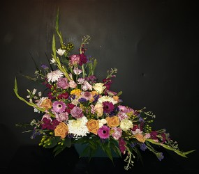 Colorful Crescent from Flower Works II, your Medford area florist