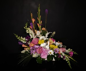 3d crescent spring mix from Flower Works II, your Medford area florist