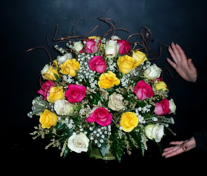 50 Roses Arranged from Flower Works II, your Medford area florist