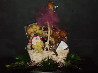 Bread and muffin basket from Flower Works II, your Medford area florist