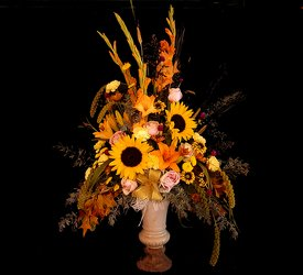 Fall Arrangement from Flower Works II, your Medford area florist