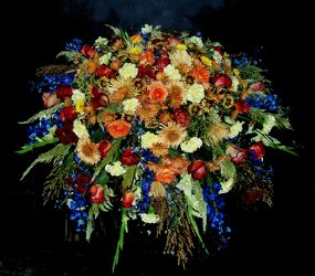 Fall 1/2 Casket Spray from Flower Works II, your Medford area florist
