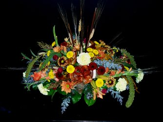 Fall Dining Centerpiece from Flower Works II, your Medford area florist
