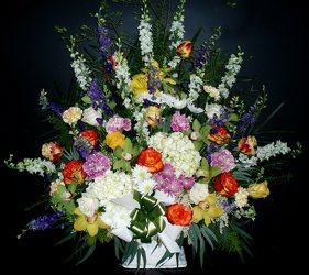 Funeral Basket lg from Flower Works II, your Medford area florist