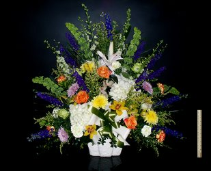 Funeral Basket lg 02 from Flower Works II, your Medford area florist
