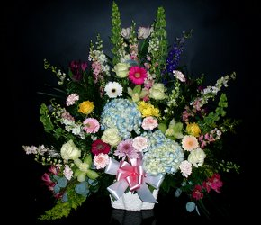 Funeral Basket 09 from Flower Works II, your Medford area florist