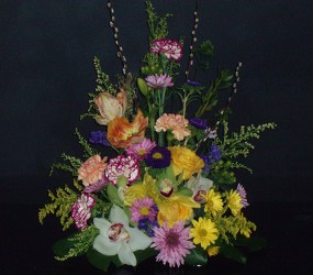 Mixed Spring Arrangement from Flower Works II, your Medford area florist