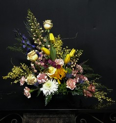 Spring Slant Arr from Flower Works II, your Medford area florist