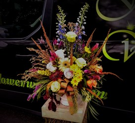 Fall Bliss from Flower Works II, your Medford area florist