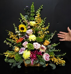 Homestyle 3/4 sided from Flower Works II, your Medford area florist