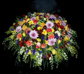 Mixed Casket Spray 05 from Flower Works II, your Medford area florist