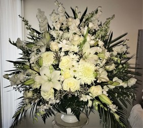 White Basket from Flower Works II, your Medford area florist