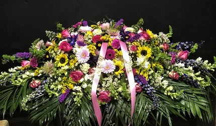 Full Casket Spray from Flower Works II, your Medford area florist